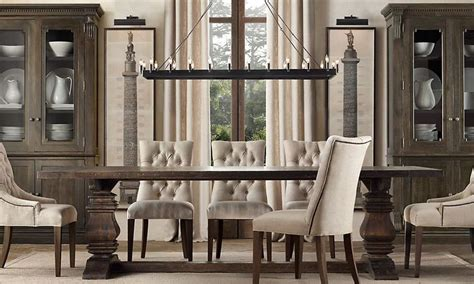 restoration hardware dining room tables marceladick