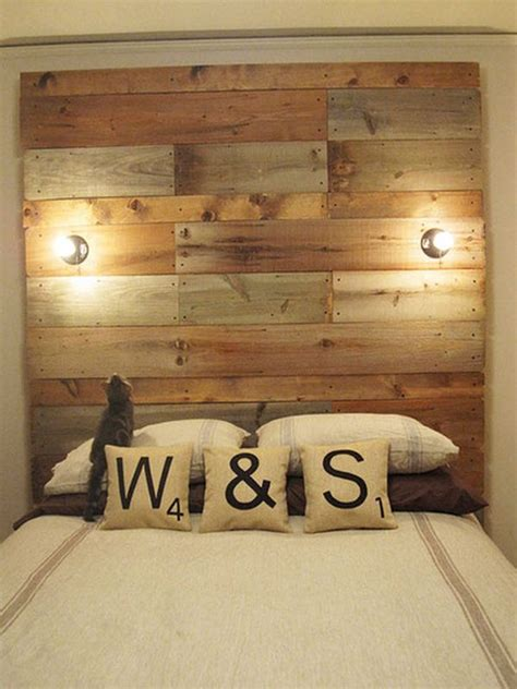 reclaimed wood headboard diy 13 diy headboards made from repurposed wood