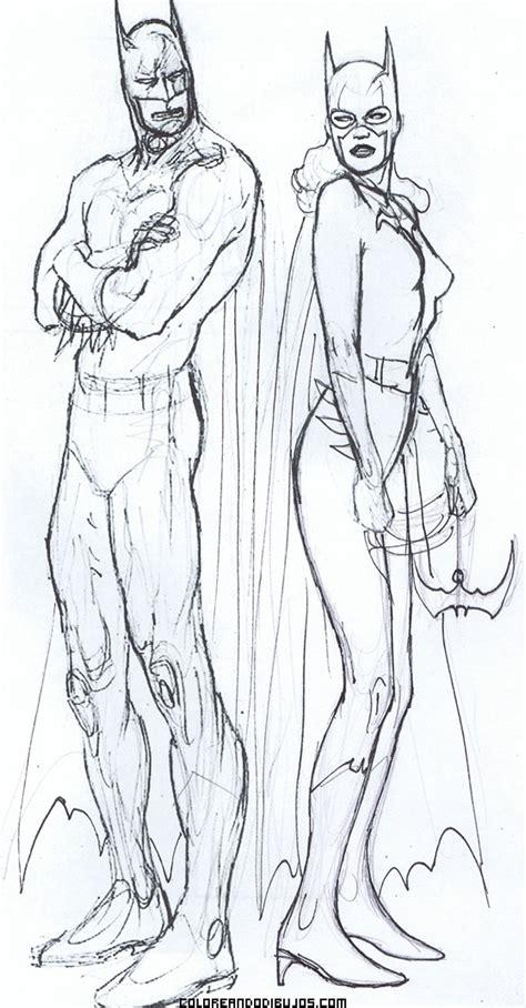 dibujos para colorear batman robin batgirl y batman para imprimir dibujo de batman y batgirl para pintar