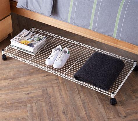 rolling under bed storage suprima rolling underbed storage shelf white