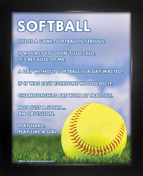 printable softball quotes softball inspiration 8 x 10 sport poster print