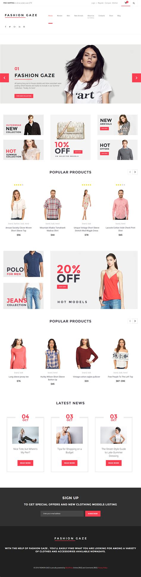 woocommerce themes clothing fashion gaze premium responsive woocommerce wordpress theme