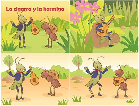 la cigarra y la 8484834344 kikuko portafolio ilustracion de cuentos para ni 241 os