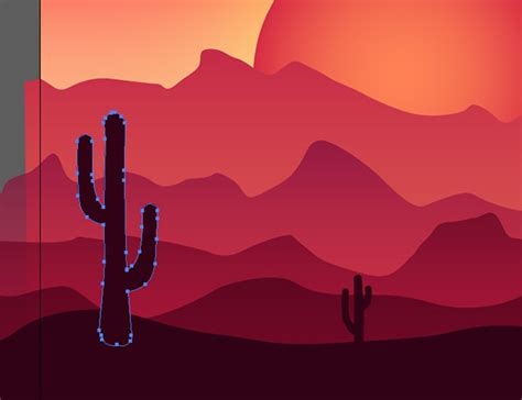 tutorial illustrator landscape how to create a colorful vector landscape illustration