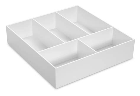 4 Drawer Organizer by 50068 White Pvc 4 Inch Drawer Organizer Tray Trippnt