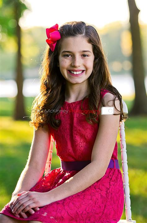 preteen model hair young girl dark pink dress pink bow purple belt purple