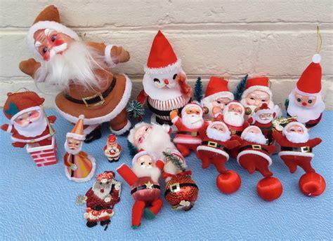 vintage christmas decorations santas 1950s 1960s x 18 ebay