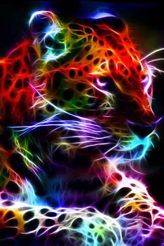 neon animal wallpaper
