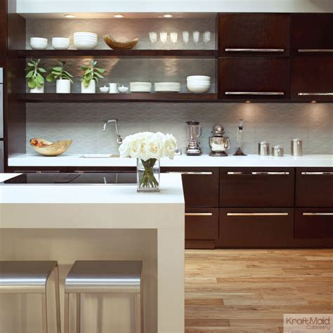 Peppercorn Kitchen by Kraftmaid Quartersawn Cherry Cabinetry In Peppercorn