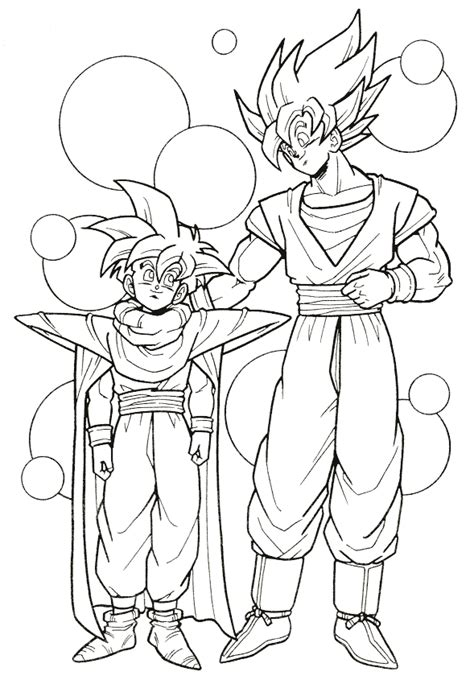 dragon ball z coloring pages coloring factory