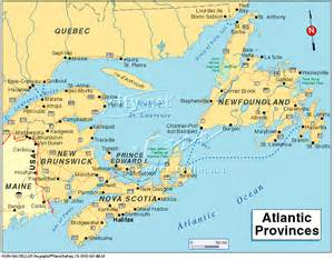 map of east coast canada