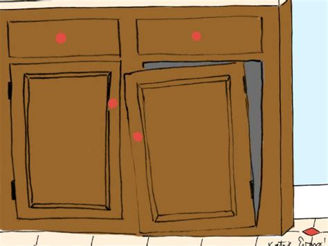 how to fix a cabinet door that fell off how to repair common kitchen mishaps and accidents diy