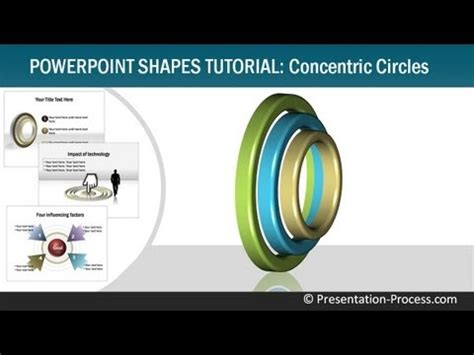 powerpoint quick tutorial how to create 3d concentric circles powerpoint shapes