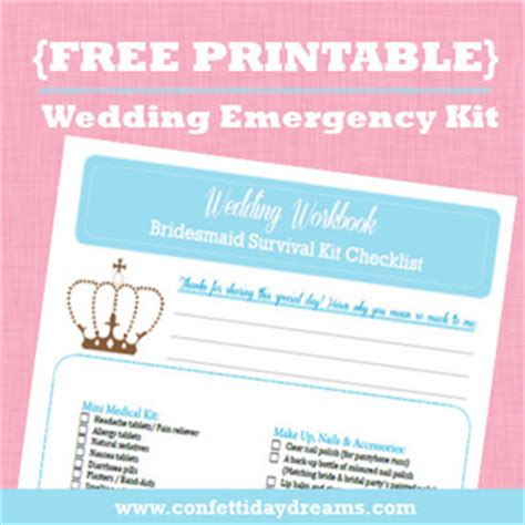 free printable wedding planning kit wedding planner wedding planner emergency kit list