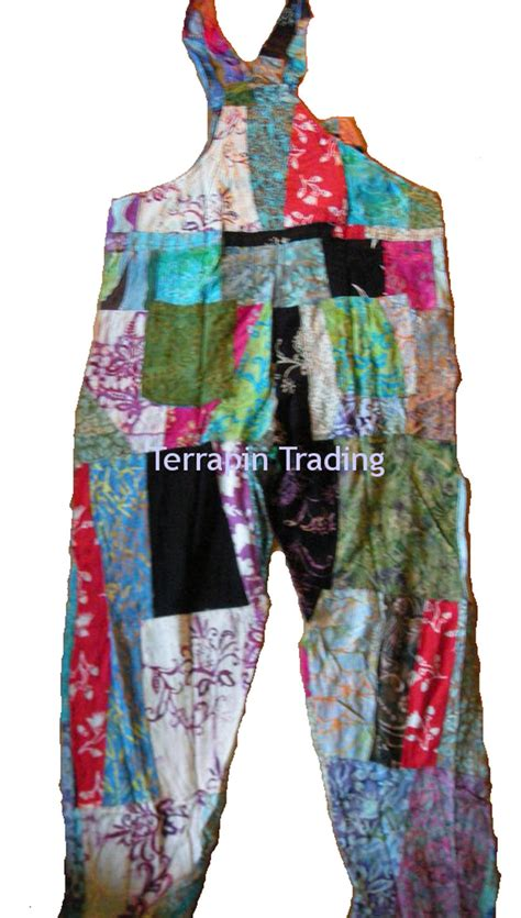 Patchwork Dungarees - fair trade patchwork dungarees with real patches by terrapin