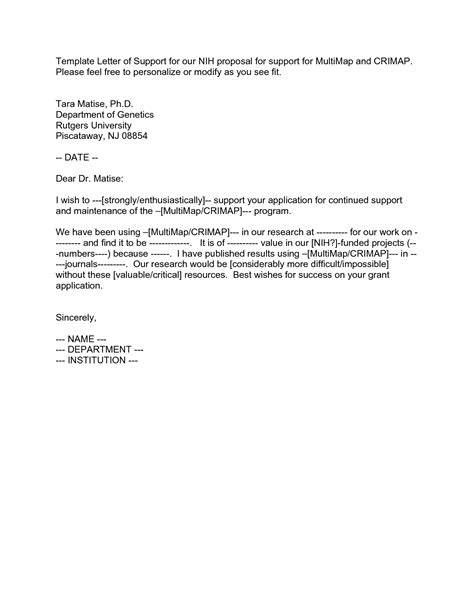 Institutional Support Letter Grant Letter Of Support Template Aplg Planetariums Org