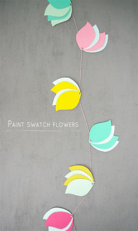 diy paint swatch crafts 25 paper flower crafts nobiggie