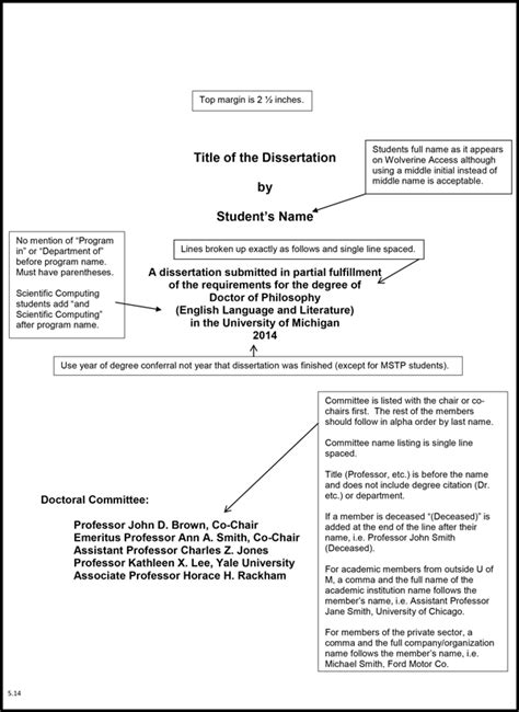 Phd Dissertation Template by Phd Thesis Format
