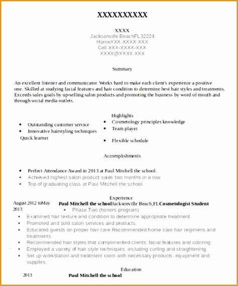 cosmetology instructor resume sles 9 esthetician resume template free sles exles
