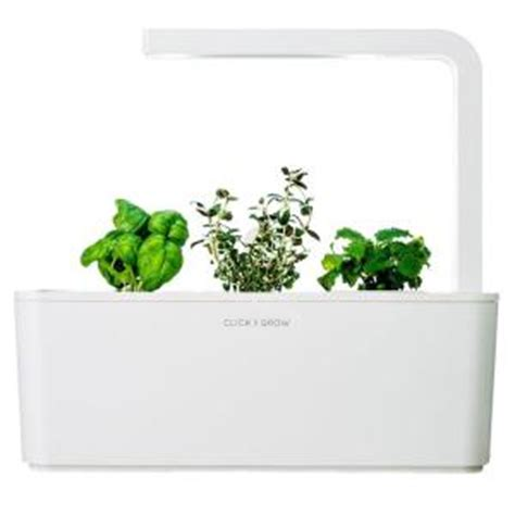 Indoor Herb Garden Kit With Light by Click And Grow Smart Herb Garden With Basil Thyme And
