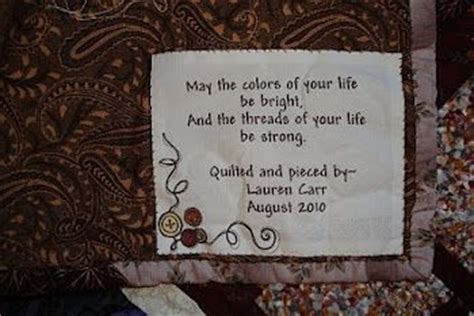 label for wedding gift quilt quilts