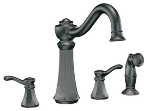 moen vestige kitchen faucet moen 7068pw vestige two handle kitchen faucet with matching sidespray in pewter traditional