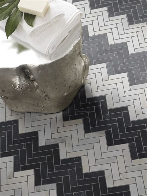 monochromatic gray mosaic subway tiles shower space wall herringbone splashback tiles rescue remedy for small spaces