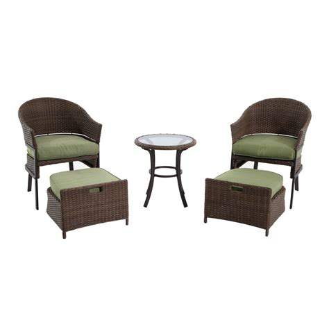 Garden Treasures Patio Chairs Shop Garden Treasures 5 Cape Verde Brown Steel Patio Conversation Set At Lowes
