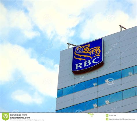 royal bank of canada login royal bank of canada sign editorial stock image image