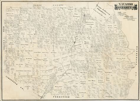 navarro county texas map navarro county state of texas april 1888 barry ruderman antique maps inc