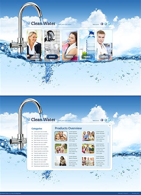 water filter html5 template html5 web templates 300111663