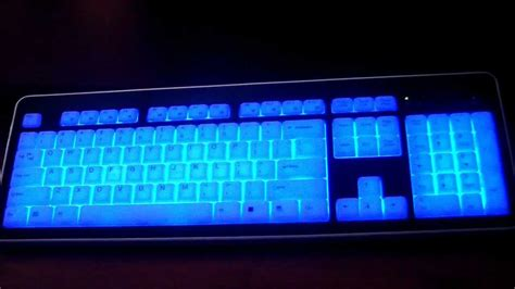 light up wireless mouse illuminated keyboard backlit back lit modtek slim acrylic