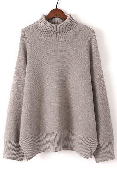 Plain Turtle Neck Sweater chic turtle neck sleeve plain comfortable pullover