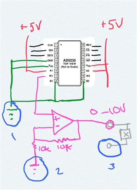 how digital resistors work op how do you properly ground a digital pot and an op electrical engineering stack