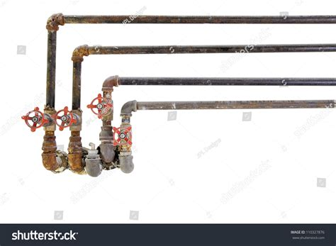 heating cooling water plumbing pipes stock photo