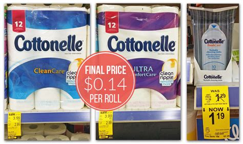 Who Makes Cottonelle Toilet Paper - stock up cottonelle toilet paper rolls only 0 14 at