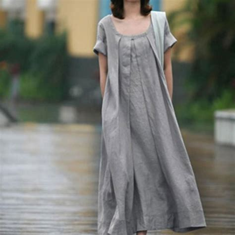 For Two Reviana Linen Dress 4 2016 and summer dress cotton and linen dress european and american plus size