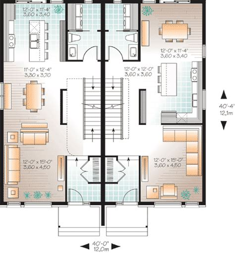 narrow lot multi family house plans narrow lot multi family home plan 22327dr 2nd floor master suite cad available