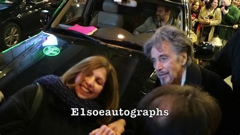 china doll broadway al pacino greets fans after china doll broadway show