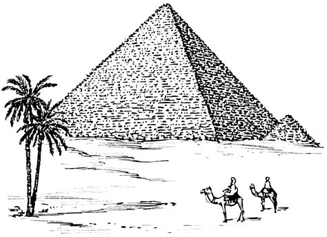 pyramid at giza colouring pages