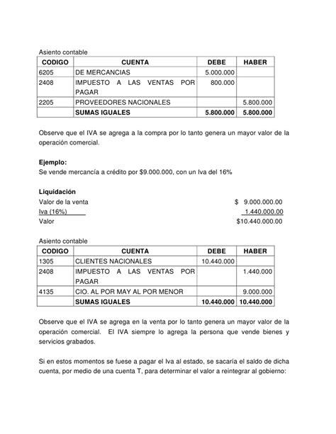 contabilizacion en cuenta contable del impuesto a la riqueza contabilidad general