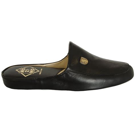 mens leather house shoes mens full leather slipper relax williams buy mens slippers at mozimo