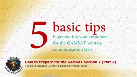 Gamsat Essay Writing by Gamsat Preparation For Section 2 Gold Standard Essay Writing Part 2