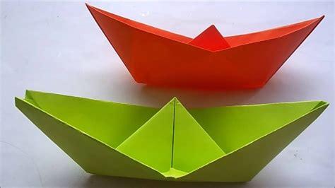 hoe vouw ik een bootje origami boot youtube