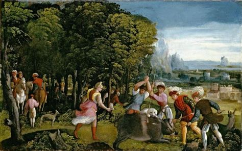 the hunts file battista dossi the hunt of the calydonian boar
