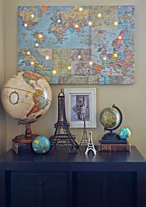 cool travel themed home decor ideas  rock digsdigs
