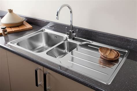 brushed  chrome kitchen taps stainless steel kitchen