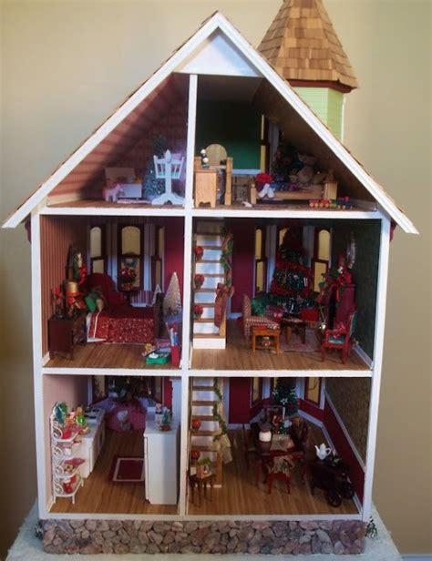 christmas doll houses christmas dollhouse my christmas dollhouse pinterest
