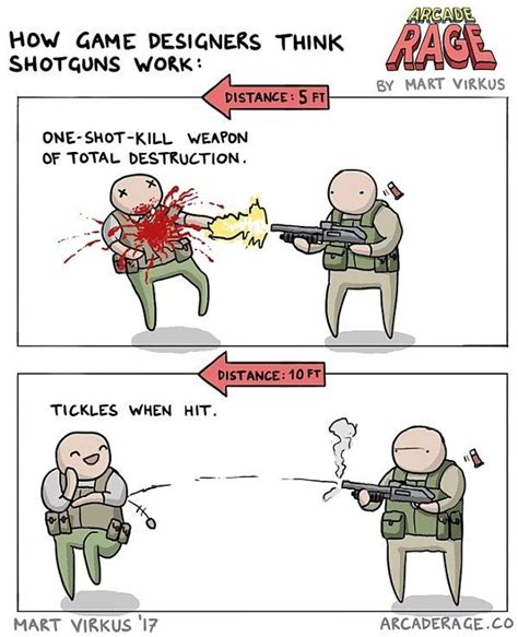 shotguns work   game designers comic