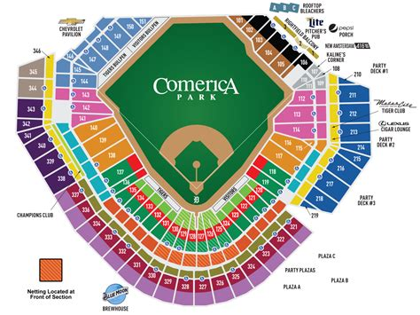 how many seats in tiger stadium comerica park seating chart www imgkid the image